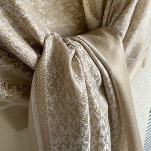 {Michael Kors} gold scarf wrap stole